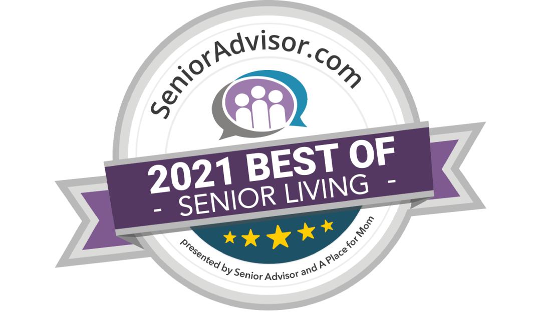 Award winner! BEST OF SENIOR LIVING IN AURORA, IL